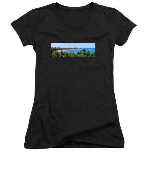 Full Beach View Women's V-Neck (Athletic Fit)