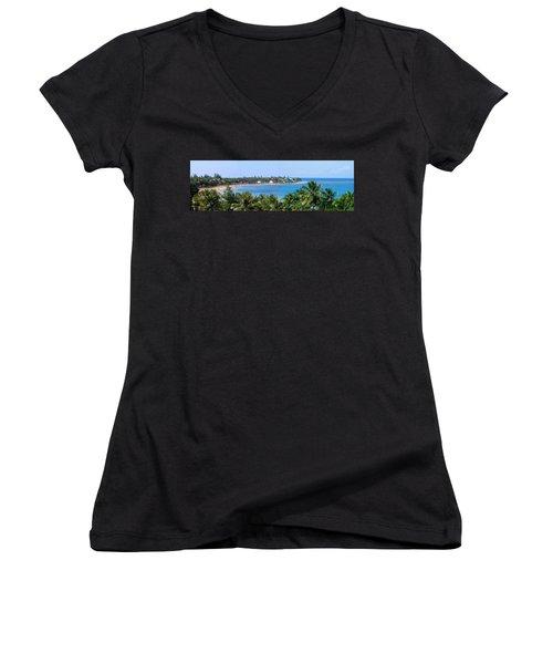 Full Beach View Women's V-Neck T-Shirt
