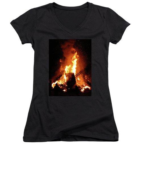 Full Bonfire Women's V-Neck (Athletic Fit)