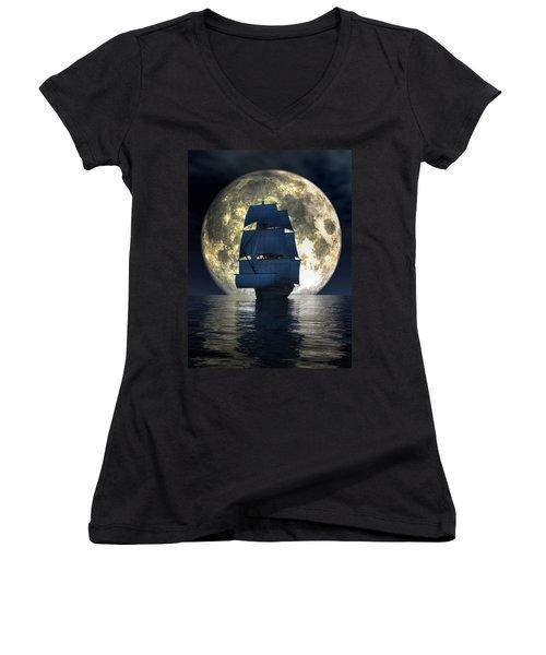 Full Moon Pirates Women's V-Neck