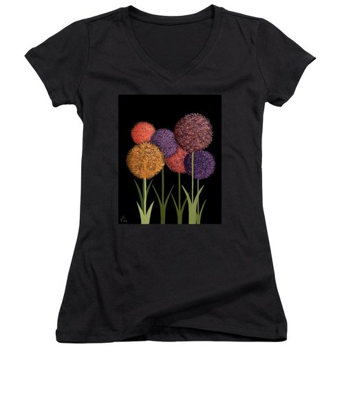 Fun Colours Women's V-Neck T-Shirt