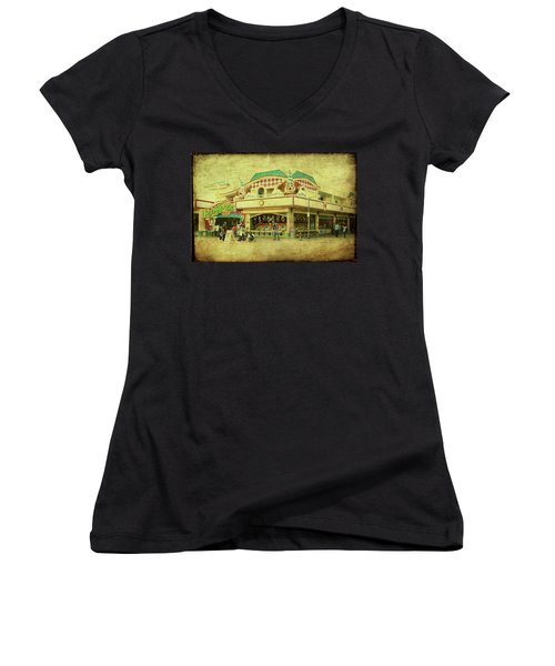 Fun House - Jersey Shore Women's V-Neck (Athletic Fit)