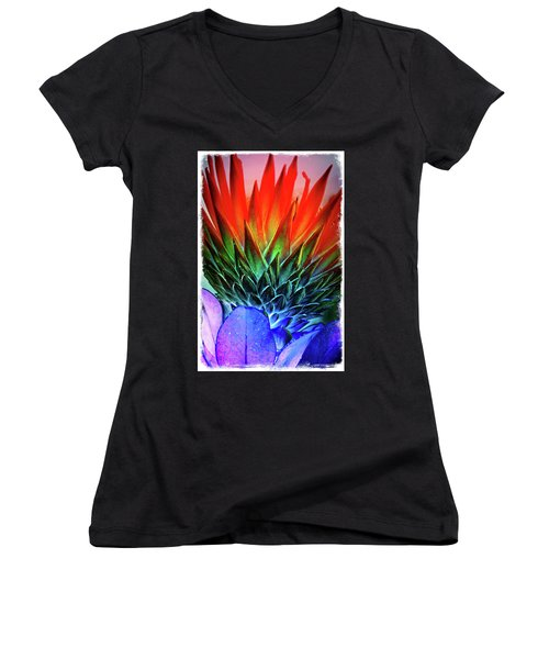 Funky Protea Women's V-Neck (Athletic Fit)