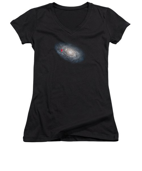 Funny Astronomy Universe  Nerd Geek Humor Women's V-Neck (Athletic Fit)