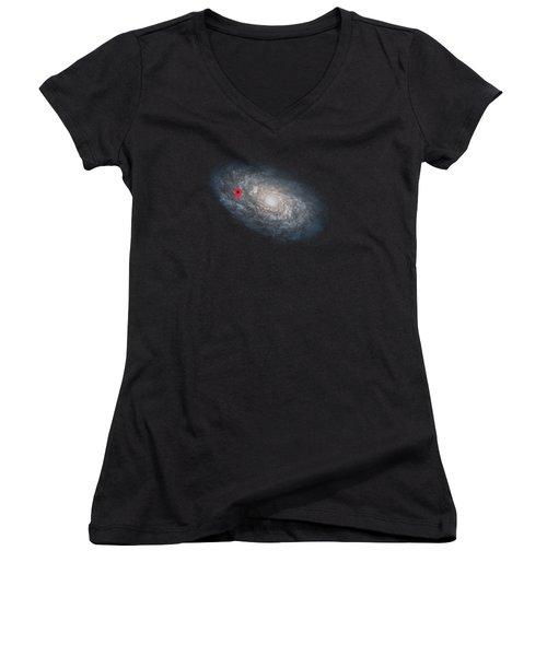 Funny Astronomy Universe  Nerd Geek Humor Women's V-Neck T-Shirt