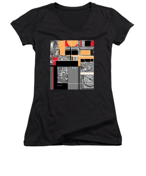 Furnace 2 Women's V-Neck T-Shirt (Junior Cut)