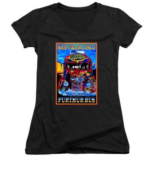 50th Anniversary Further Bus Tour Women's V-Neck T-Shirt
