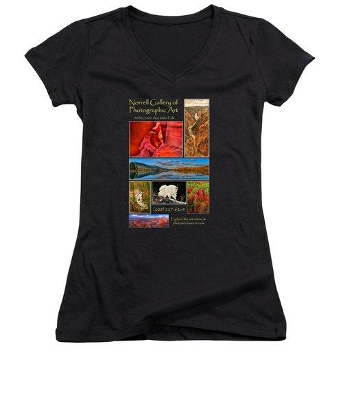 Gallery Ad Women's V-Neck T-Shirt