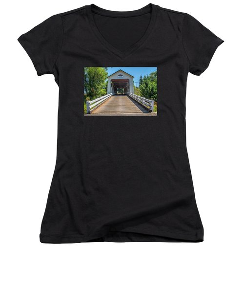 Gallon House Covered Bridge Women's V-Neck