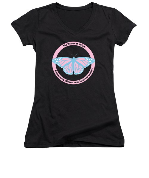 Gamma Phi Delta, The Power Of Vision Women's V-Neck (Athletic Fit)