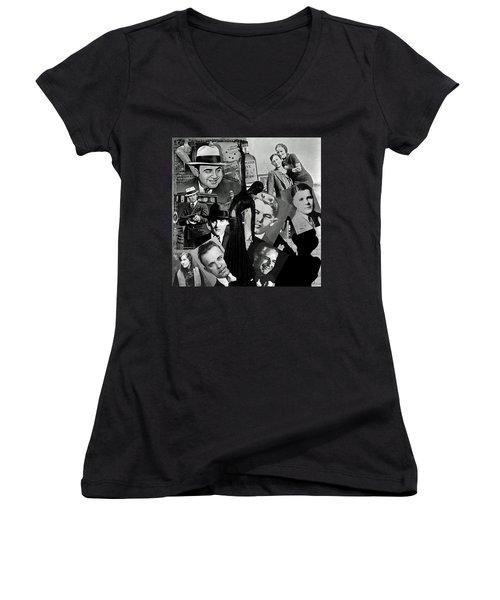 Gangland Women's V-Neck T-Shirt (Junior Cut) by Ellen Henneke