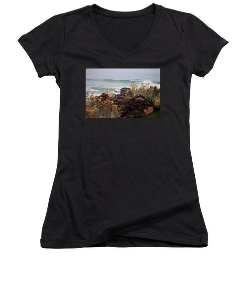 Women's V-Neck T-Shirt (Junior Cut) featuring the photograph Garden View by Ivete Basso Photography