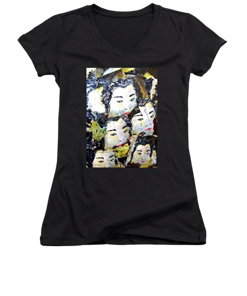 Geisha Girls Women's V-Neck (Athletic Fit)