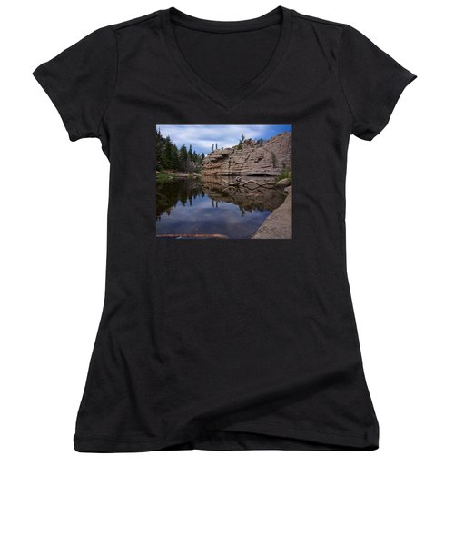 Gem Lake Women's V-Neck T-Shirt