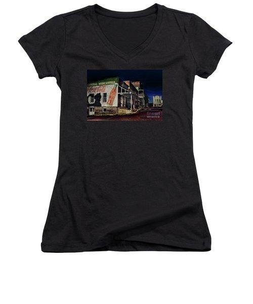 General Mercantile Women's V-Neck T-Shirt (Junior Cut) by Savannah Gibbs