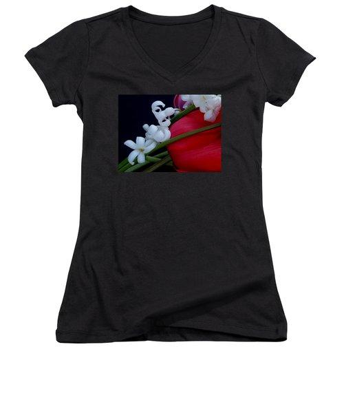Women's V-Neck T-Shirt (Junior Cut) featuring the photograph Gentle Breeze by Lisa Kaiser