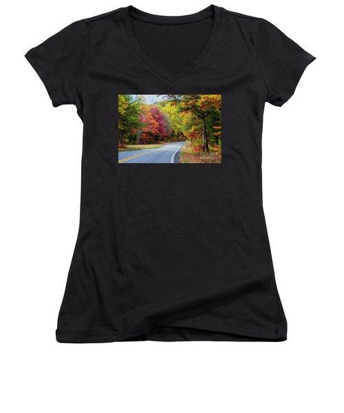 Georgia Scenic Byway Women's V-Neck T-Shirt