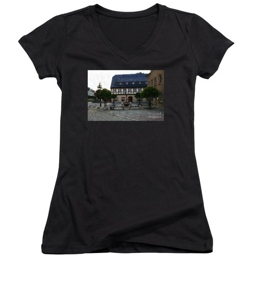 German Town Square Women's V-Neck (Athletic Fit)
