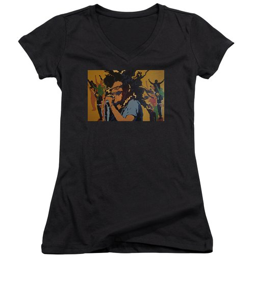 Get Up Stand Up Women's V-Neck