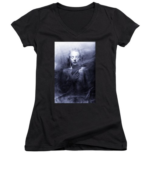 Ghost Woman Women's V-Neck (Athletic Fit)