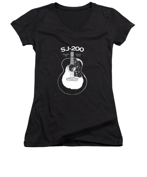 Gibson Sj-200 1948 Women's V-Neck (Athletic Fit)