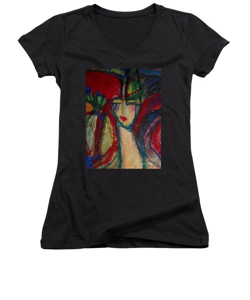 Girl In Darkness Women's V-Neck