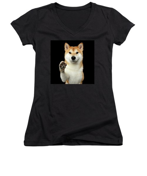 Women's V-Neck featuring the photograph Give Me A Hand Man by Sergey Taran