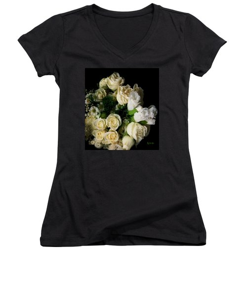 Women's V-Neck T-Shirt (Junior Cut) featuring the photograph Glamour by RC DeWinter