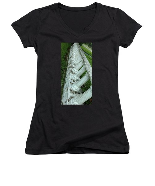 Women's V-Neck T-Shirt (Junior Cut) featuring the photograph Glide Path by Steve Sperry