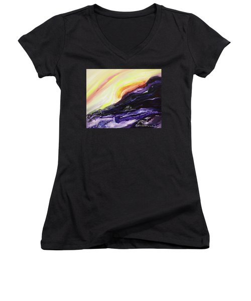 Gloaming Women's V-Neck (Athletic Fit)