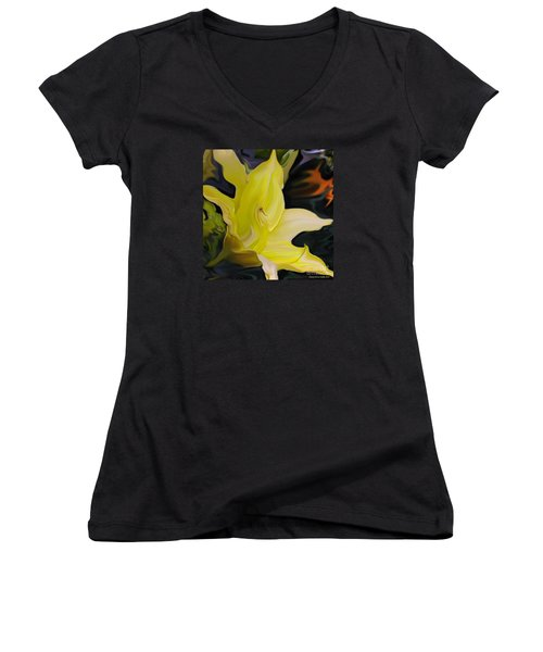 Women's V-Neck T-Shirt (Junior Cut) featuring the painting Glory II by Patricia Griffin Brett