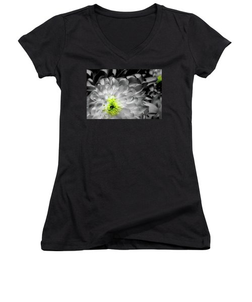 Glowing Heart Women's V-Neck (Athletic Fit)
