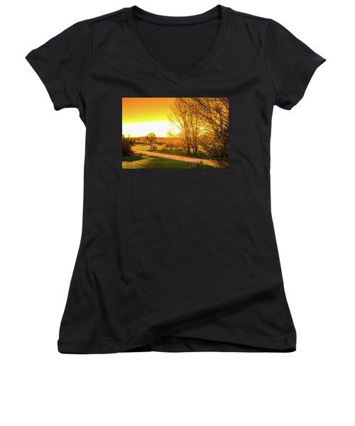 Glowing Sunset Women's V-Neck