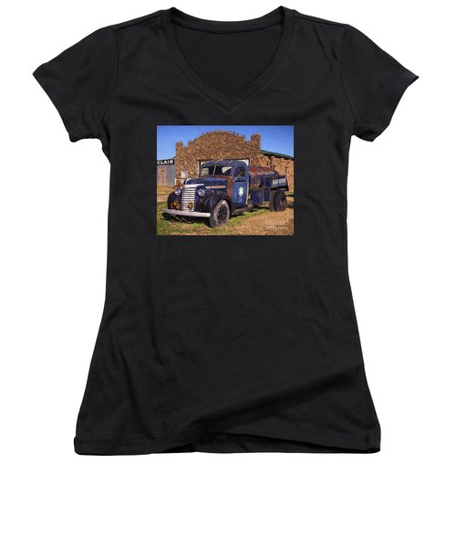 Gmc Tank Truck Women's V-Neck
