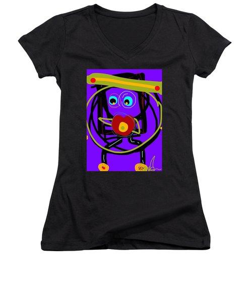 Go For It Women's V-Neck T-Shirt