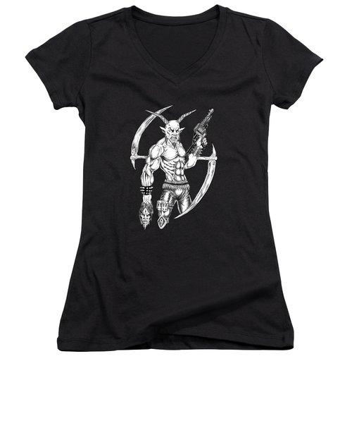 Goatlord Reaper Women's V-Neck T-Shirt
