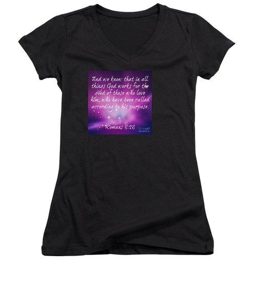 God Works Women's V-Neck T-Shirt