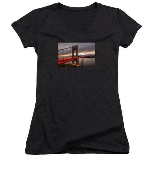 Gods Light  Women's V-Neck T-Shirt (Junior Cut) by Anthony Fields