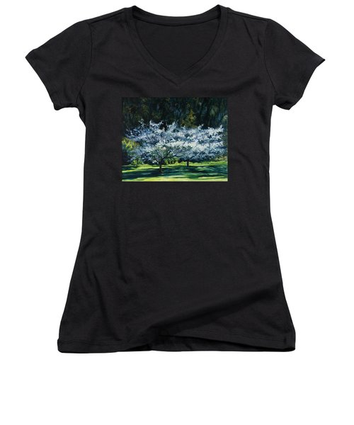 Golden Gate Park Women's V-Neck (Athletic Fit)