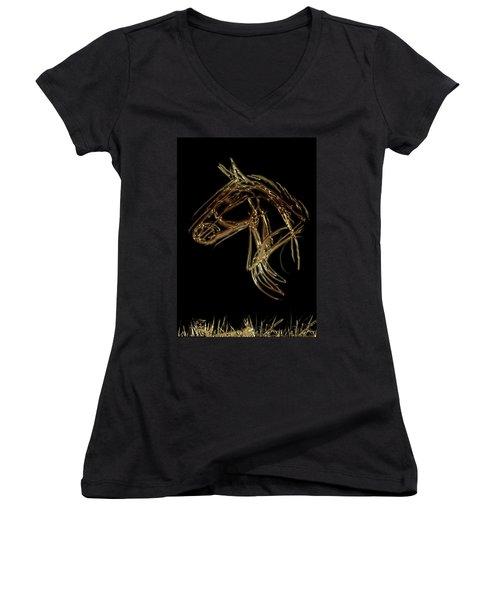 Golden Horse Women's V-Neck
