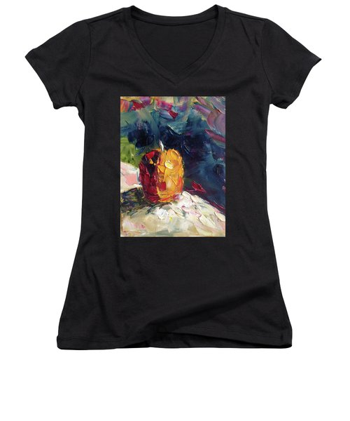 Golden Opportunity Women's V-Neck T-Shirt (Junior Cut) by Roxy Rich