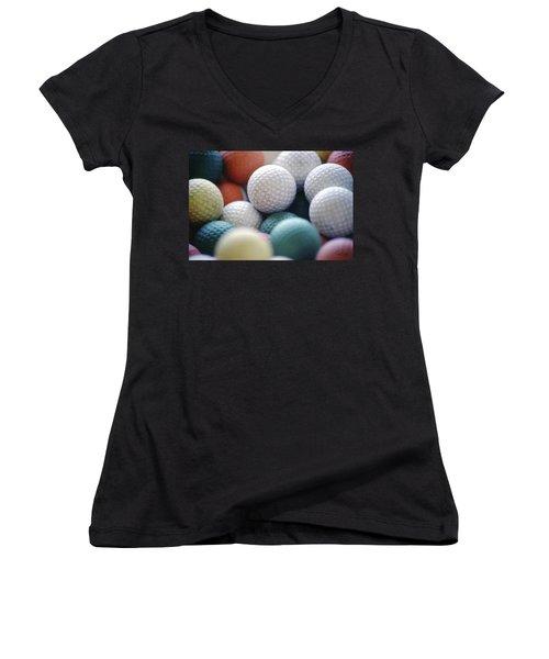 Golf Balls Women's V-Neck (Athletic Fit)