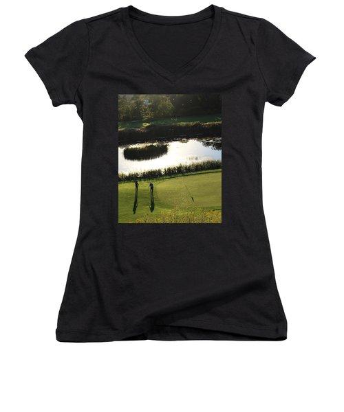 Golf - Puttering Around Women's V-Neck