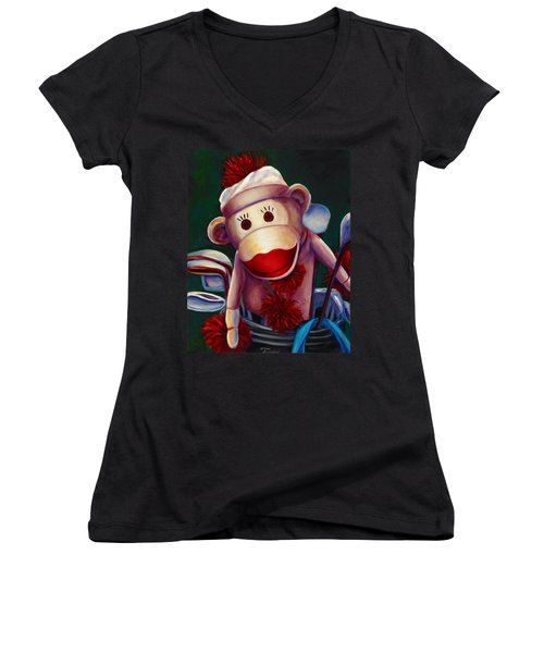 Golfer Made Of Sockies Women's V-Neck (Athletic Fit)
