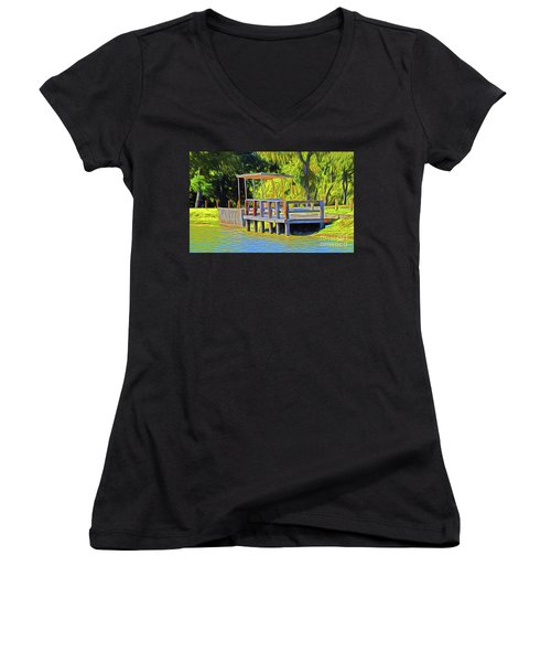 Gone Fishing 18-11 Women's V-Neck