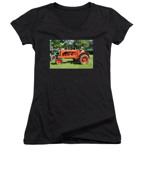 Good Day On The Farm Women's V-Neck T-Shirt