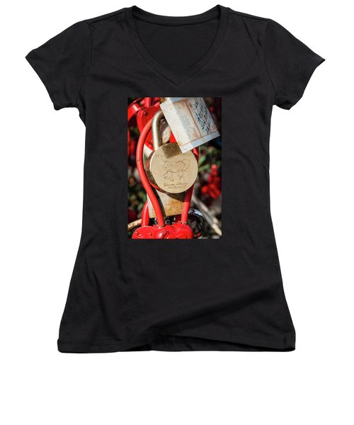 Good Luck Hama And Cama Women's V-Neck