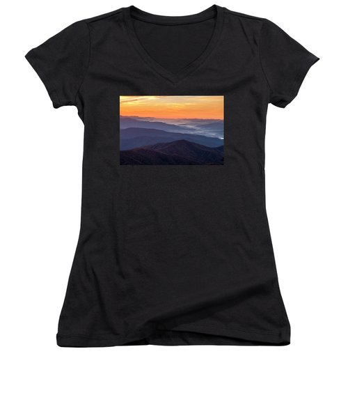Good Morning Clingmans Dome In The Smokies Women's V-Neck