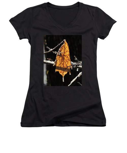 Goodbye To Autumn Women's V-Neck T-Shirt