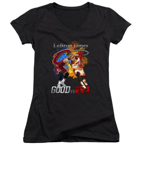 Goodevil Women's V-Neck T-Shirt (Junior Cut) by Augen Baratbate